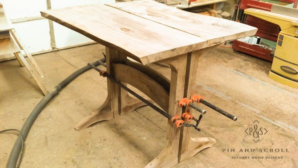 Locally Harvested Walnut Live Edge Slab Table