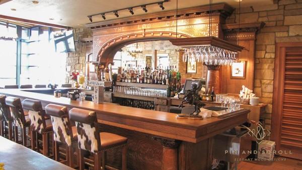 Antique Brunswick Bar Restoration 07