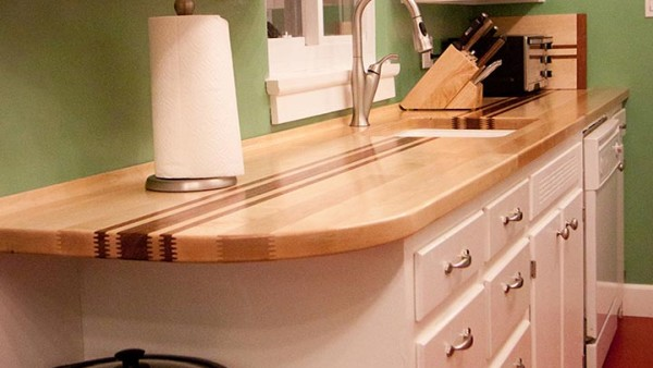 Finger Jointed Maple and Bubinga Butcher Block Counter Tops 04