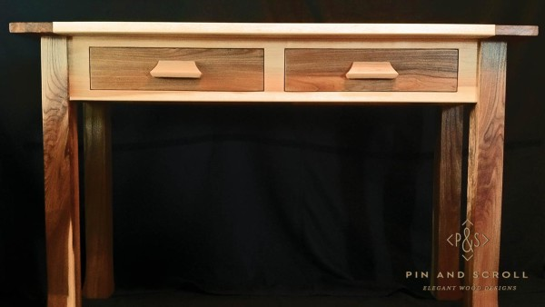 Locally Harvested Silver Maple and English Elm Entry Table 03