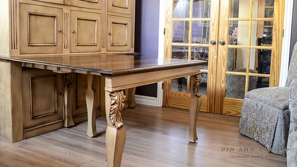 Maple French Country Dining Suite 05